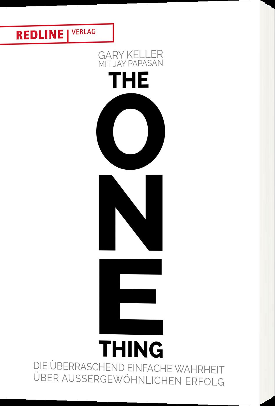 The ONE Thing, Buch von Gary Keller und Jay Papasan, Redline Verlag, Cover